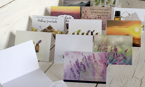 essential oil greeting cards