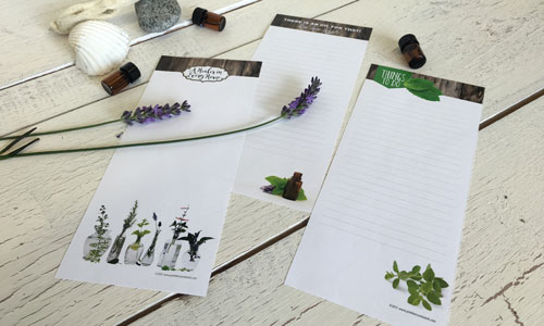 notepads for essential oils
