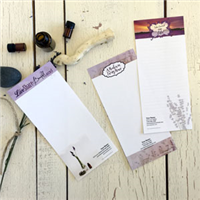 Notepads - Set of 3 - Lavender - Personalize