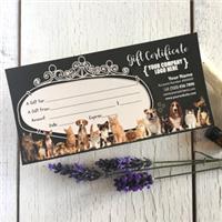 Gift Certificate: Animal-Cats and Dogs