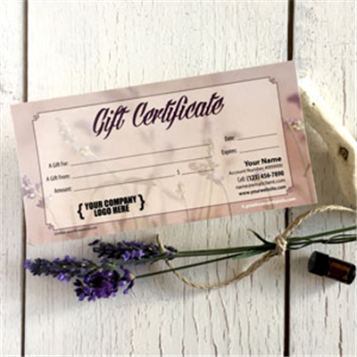 Gift Certificate: Lavender Dreams