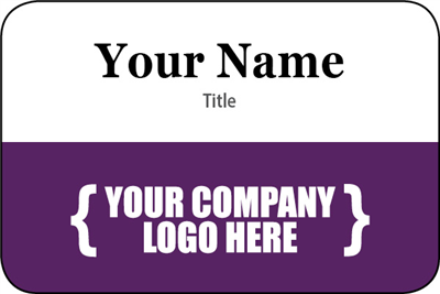 Name Tag - Purple Solid