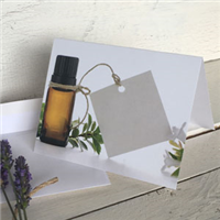 Greeting Card: Brown Bottle with tag